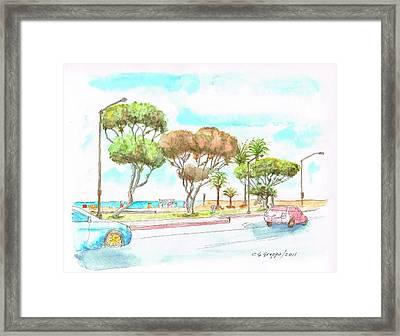 Laguna Beach Waterfront - California Framed Print by Carlos G Groppa