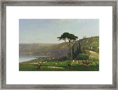 Lake Albano Framed Print by George Inness