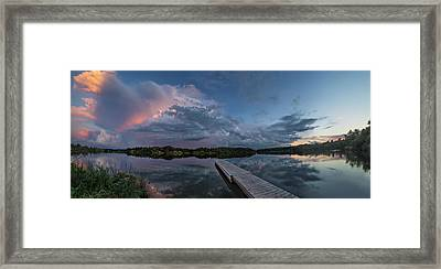 Lake Alvin Supercell Framed Print by Aaron J Groen