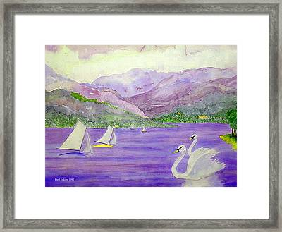 Lake Annecy France Framed Print by Fred Jinkins