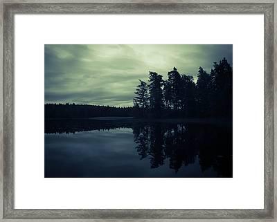 Lake By Night Framed Print by Nicklas Gustafsson