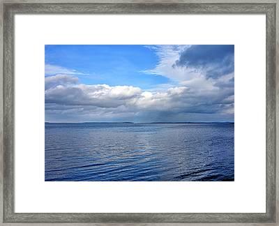Lake Champlain From New York Framed Print by Brendan Reals