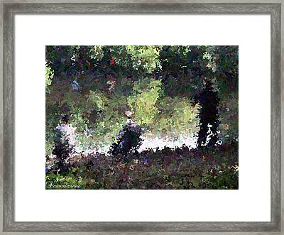 Lake Fishing Impressionist Painting Framed Print by Dawn Hay