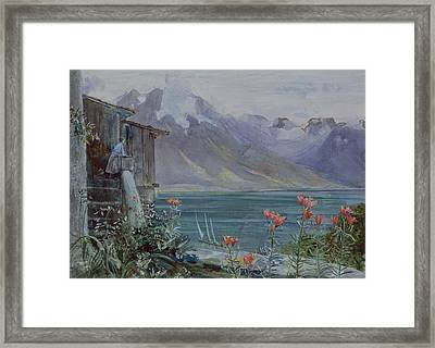 Lake Geneva Framed Print by John William Inchbold
