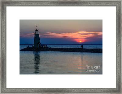 Lake Hefner Evening Stroll Framed Print by Tamyra Ayles