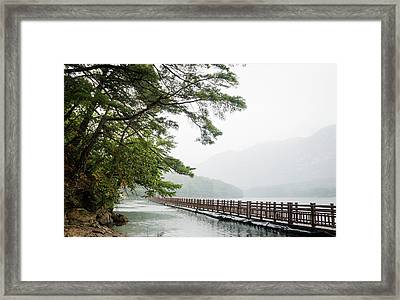 Lake Framed Print by Hyuntae Kim