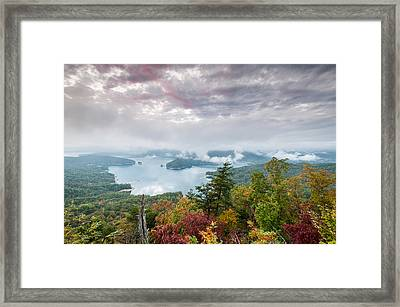 Lake Jocassee Clearing Storm Sunset Framed Print by Mark VanDyke