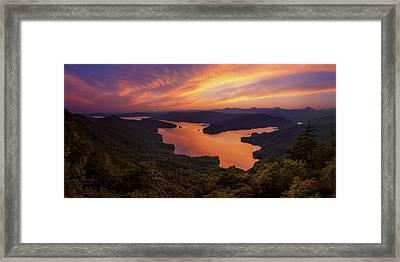 Lake Jocassee Framed Print by Taylor Franta