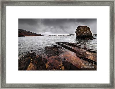 Lake Kleifarvatn Framed Print by Svetlana Sewell