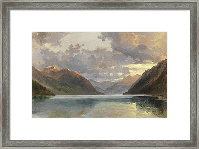 Lake Lucerne Framed Print by James Duffield Harding