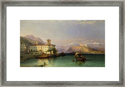 Lake Maggiore Framed Print by George Edwards Hering