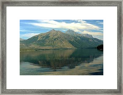 Lake Mcdonald 51 Framed Print by Marty Koch