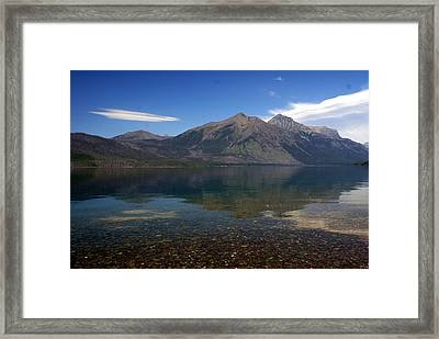 Lake Mcdonald Reflection Glacier National Park 2 Framed Print by Marty Koch