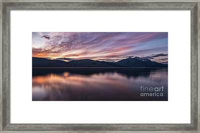Lake Mcdonald Sunset Framed Print by Heavens Peak