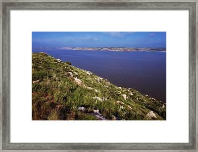 Lake Meredith II Framed Print by Joan Carroll