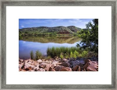 Lake Meredith Framed Print by Joan Carroll