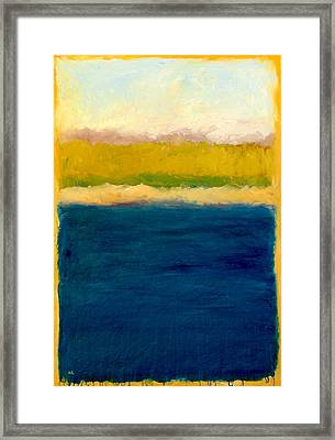 Lake Michigan Beach Abstracted Framed Print by Michelle Calkins