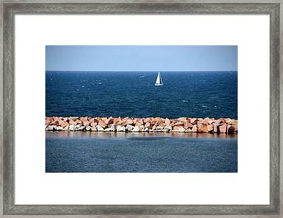 Lake Michigan Framed Print by Luiz Felipe Castro