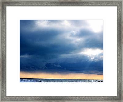 Lake Michigan Sky Framed Print by Andrew Jagniecki