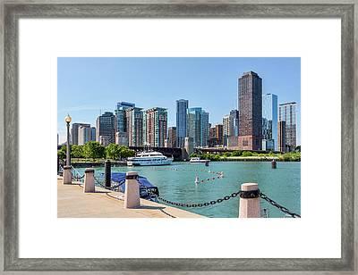 Lake Michigan View Framed Print by Kelley King
