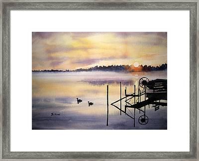 Lake Mist Framed Print by Shirley Braithwaite Hunt