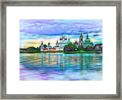 Lake Nero Monastery - Russia Framed Print by The  Candy Trail