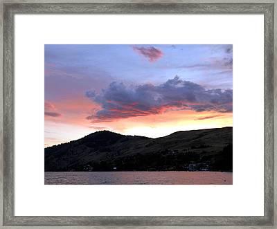 Lake Okanagan Sunset Framed Print by Will Borden