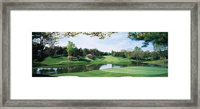 Lake On A Golf Course, Congressional Framed Print by Panoramic Images