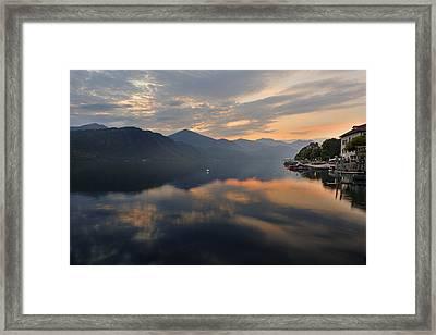 Lake Orta Framed Print by Joana Kruse