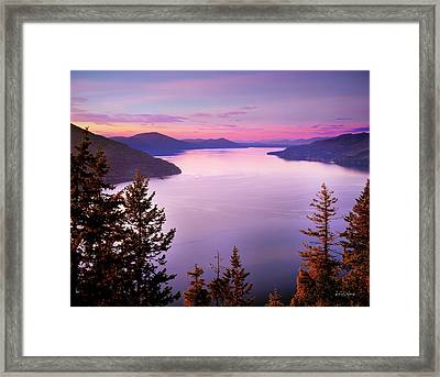 Lake Pend Oreille 2 Framed Print by Leland D Howard