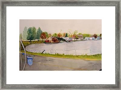 Lake Pocotopaug Framed Print by Katherine  Berlin