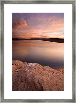 Lake Powell Dawn Framed Print by Mike  Dawson
