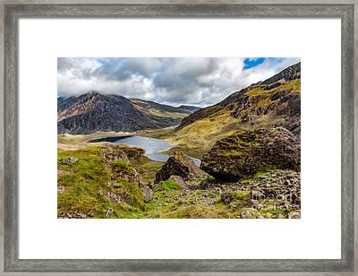 Lake Snowdonia Framed Print by Adrian Evans