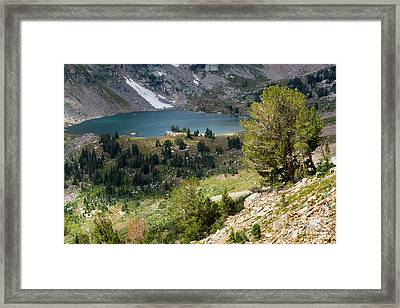 Lake Solitude Framed Print by Mike Cavaroc