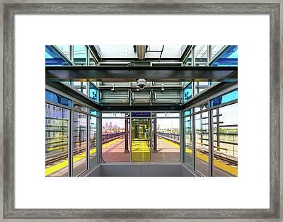 Lake Street Light Rail Station  Framed Print by Jim Hughes