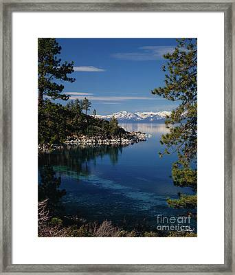 Lake Tahoe Smooth Framed Print by Vance Fox
