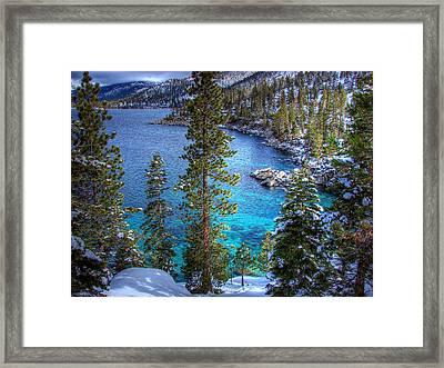 Lake Tahoe Winterscape Framed Print by Scott McGuire