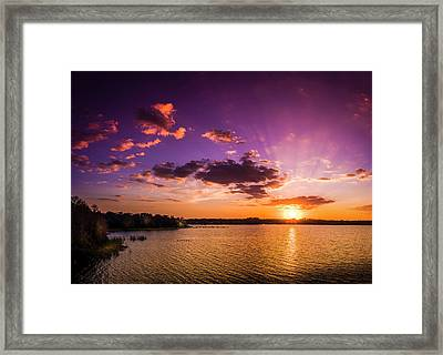 Lake Tarpon Sunset Framed Print by Marvin Spates