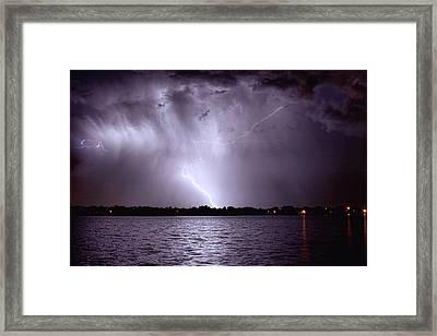 Lake Thunderstorm Framed Print by James BO  Insogna