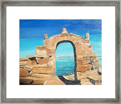Lake Titicaca Peru Framed Print by Tracey Mitchell
