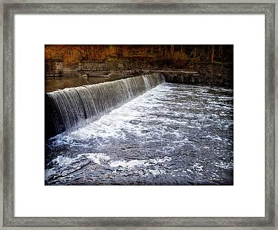 Lake To Lake Waterfall Framed Print by Joan  Minchak