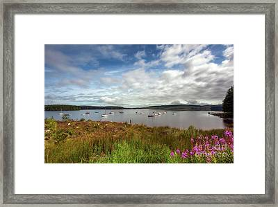 Lake View Framed Print by Adrian Evans