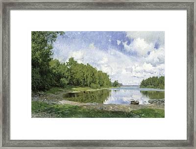 Lake View At Engelsberg, Vastmanland, 1893 Framed Print by Olof Per Ulrik Arborelius
