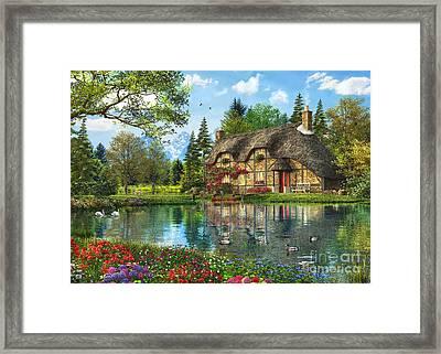 Lake View Cottage Framed Print by Dominic Davison