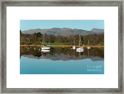 Lake Windermere Yachts Framed Print by John D Hare