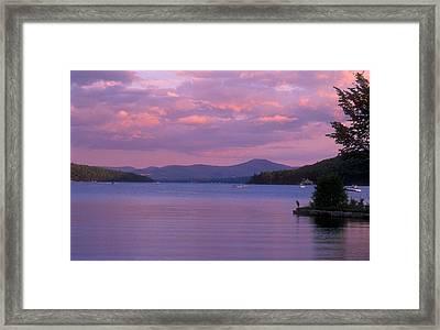 Lake Winnipesaukee Evening Framed Print by John Burk