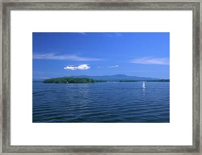 Lake Winnipesaukee Summer Day Framed Print by John Burk