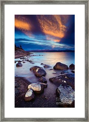 Lake Yellowstone Framed Print by Inge Johnsson