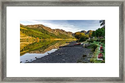 Lakeside Autumn Framed Print by Adrian Evans