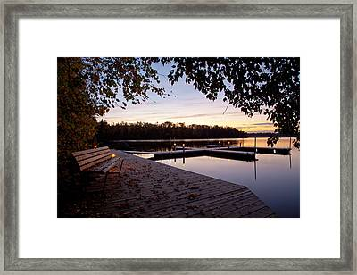 Lakeside In The North Woods Framed Print by Adam Pender
